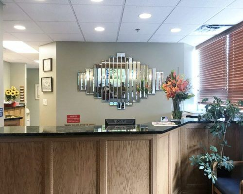 Front Desk of Thomas M. Piazza, DDS Office